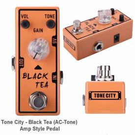 Tone City Black Tea Guitar Overdrive AC30 Mini Micro Effects Pedal