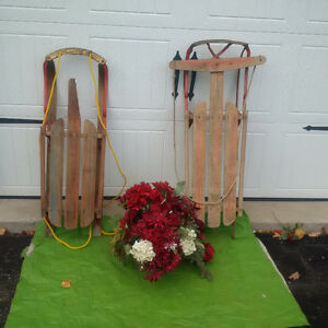 2 Antique RUSTIC SLEIGHS /SLEDS For  CHRISTMAS DISPLAY