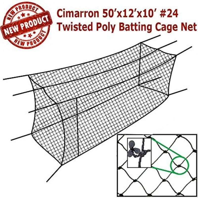Cimarron 50x12x10 Twisted Batting Cage Net Only