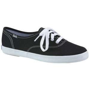 Keds Women's Champion Canvas Sneaker-Black/White Size 10, New