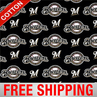 Milwaukee Brewers MLB Cotton Fabric - 58