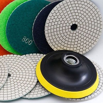 4 Inch Diamond Polishing Pad Set Granite Marble Concrete Grinding Disc Wheel Kit