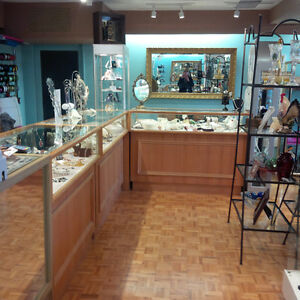 6 BEAUTIFUL OAK JEWELRY LED DISPLAY CABINETS - Price Reduced