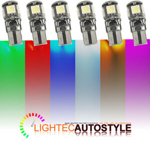 2x-ERROR-FREE-CANBUS-5-SMD-LED-XENON-HID-W5W-T10-501-CAR-SIDE-LIGHT-BULBS-6000K