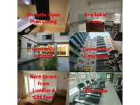 Open plan studio popular Lumiere building 24 hour gym, concierge, central yet peaceful city location