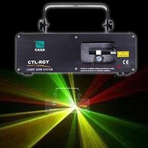 310mW Rot/Grün/Gelb Disco DPSS Laser Licht Effect DMX DJ Party Laser Lighting