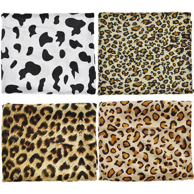 Zebra Leopard Printed Faux Fur Fabric For DIY Costumes Sewing Accessories Craft