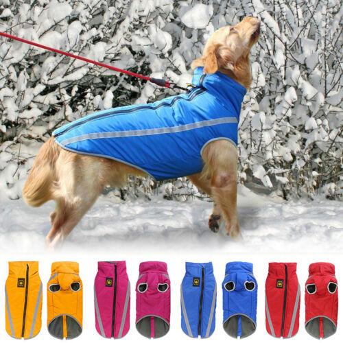 Hundemantel Wasserdicht Winter Weste Warm Jacke für Mittlere und Große Hunde