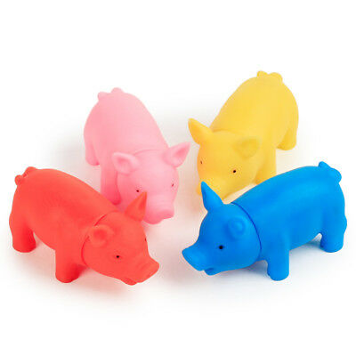 Cute Vinyl Pig Shape Pet Squeak Toys Puppy Dog Cat Teeth Cleaning Chew Sound Toy