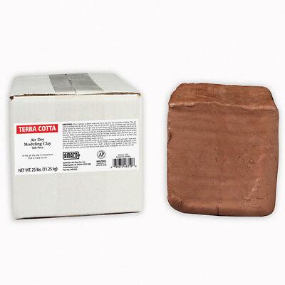 Amaco Air Dry Clay Terra Cotta 25Lb 46319S Amaco Air Dry Clay