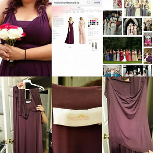 Plum/ Eggplant knee length two birds dress ( prom or bridesmaid)