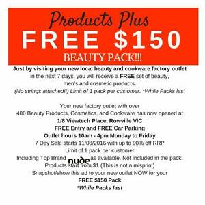 FREE $150 BEAUTY PACK* - AT YOUR LOCAL FACTORY OUTLET - ROWVILLE Rowville Knox Area Preview