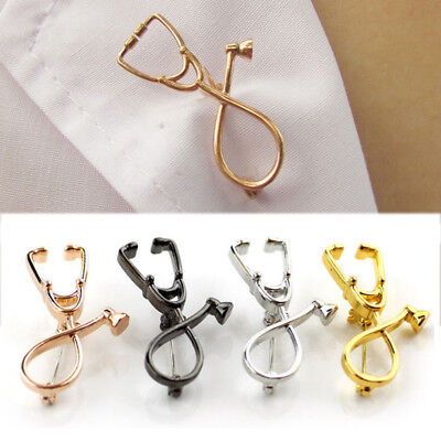 Doctor Nurse Stethoscope Brooch Pin Physician Medical Accessories Party Gifts ](Doctor Accessories)