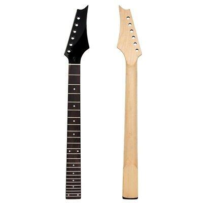 Electric Guitar Neck Black Matt 24 Fret Fretboard