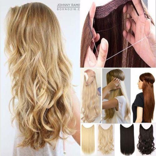Flip in Extensions Hair Haarverlängerung Lockig Blond 1p Haarteile Deluxe Draht