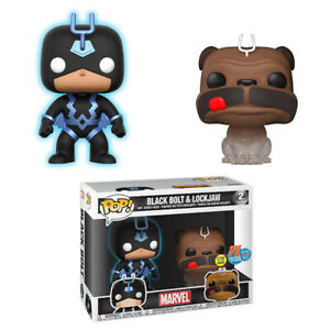 Funko Pop Marvel Black Bolt and Lockjaw San Diego Comic Con Excl