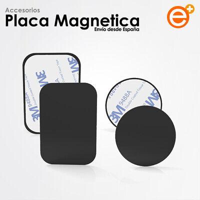 Placa Metal Universal Adhesivo Magnético Coche Imán para GPS Móvil