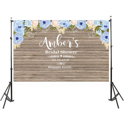 Custom Photo Booth Backdrop (rustic wedding wood flower party background custom photocall photobooth photo)