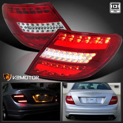 Brake Bar - Euro Red 08-11 Benz C300 C350 AMG W204 LED Light Bar Tail Brake Lamps