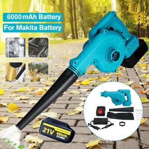 21V Cordless Garden Leaf Blower Electric Air Vacuum Snow Dust Lightweight 2-in-1