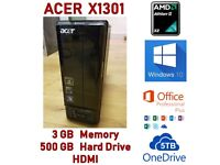 Acer Aspire X1301 Desktop :: Win 10 :: Office 365 Business Licence :: 5TB Cloud :: HDMI