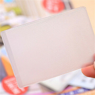 10X PVC Credit Card Holder Protect ID Card Business Card Cover Clear FrostedNIC