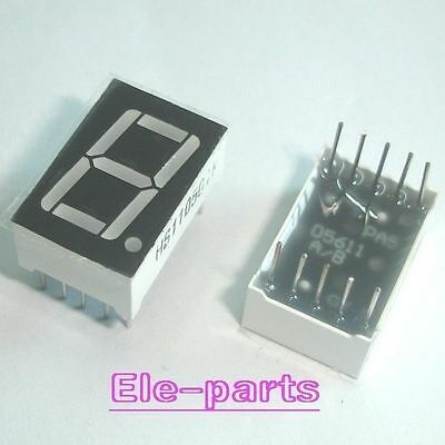 50 Pcs 1 Digit 0.56 Red 7 Segment Led Display Common Anode 10 Pins
