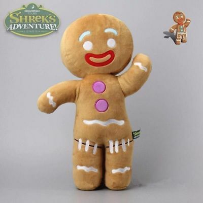 New Shrek Gingy Gingerbread Man 45cm Plush Soft Stuffed Doll Toy Large