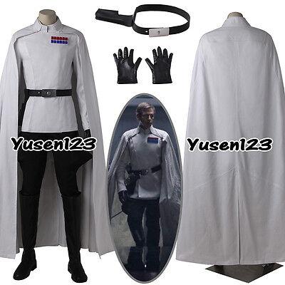 Rogue One Director Orson Krennic Uniform Cosplay White Costume Cloak ](Director Costume)