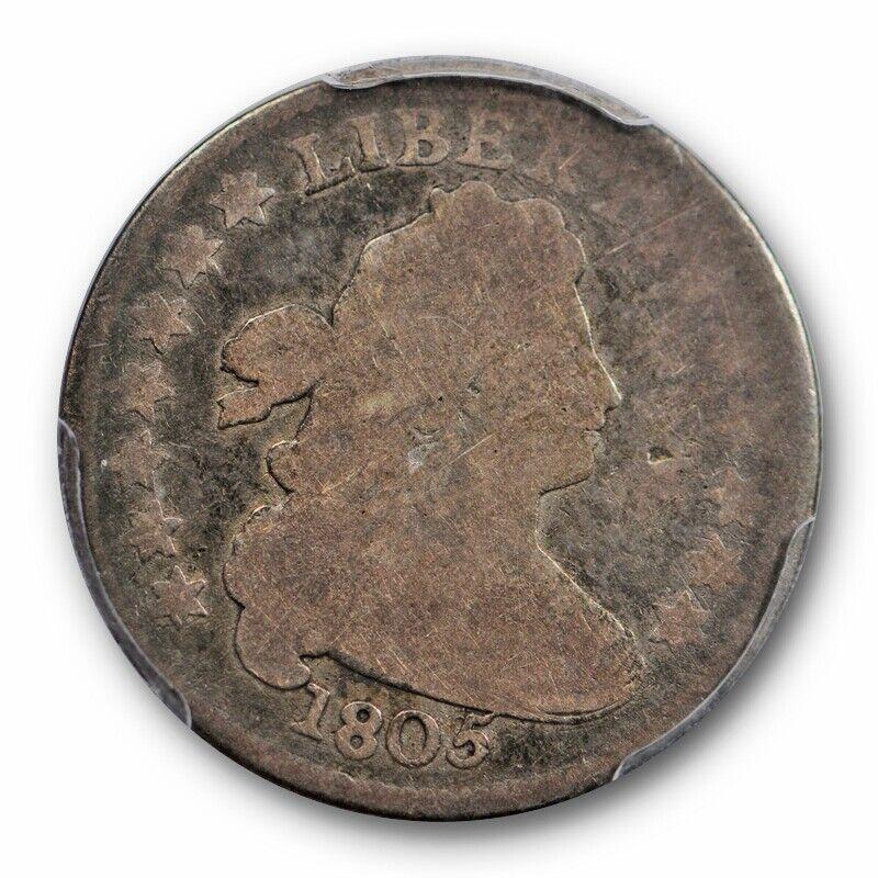 1805 10C 5 Berries Draped Bust Dime PCGS G 4 Good Tough US Type Coin
