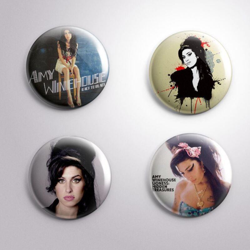 4 AMY WINEHOUSE -  Pinbacks Badge Button 25mm 1