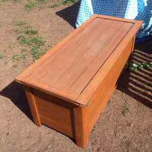 Outside Wooden Storage Bench