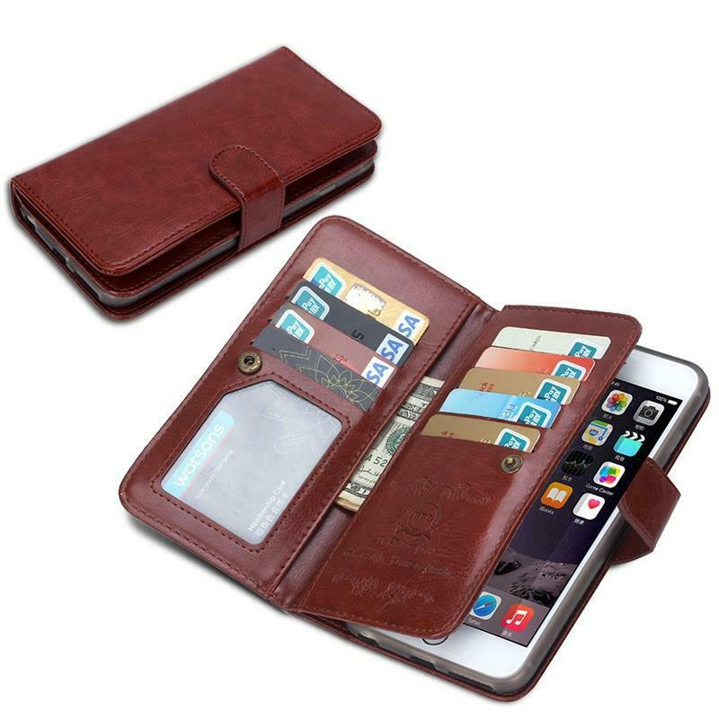For iPhone 10 X S MAX Magnetic Wallet Leather Case  Multiple Card Holder Cover Cases, Covers & Skins