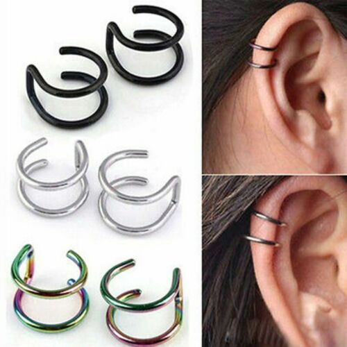 Punk Nose Hoop Ring to Dangle Earring Nose Chain to Ear Piercing Jewelry Unisex