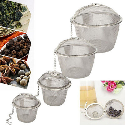 NE/_ New Stainless Steel Ball Tea Strainer Infuser Mesh Filter Loose Leaf Spice