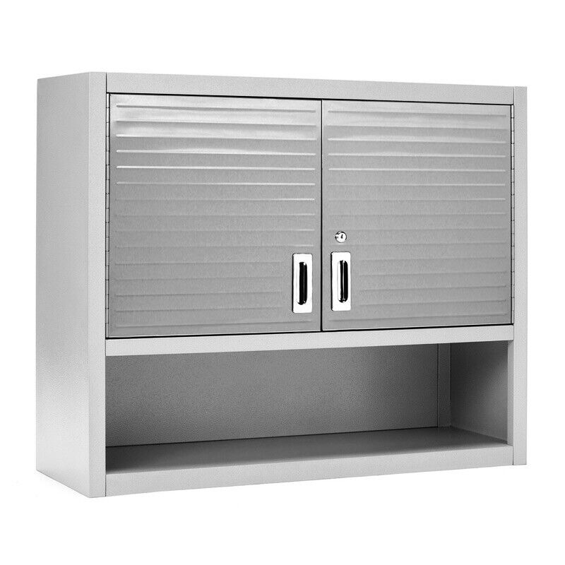 ULTRAHD® WALL CABINET WITH OPEN SHELF, 36″ W X 12″ D X 30″ H, GRANITE GRAY Bins & Cabinets