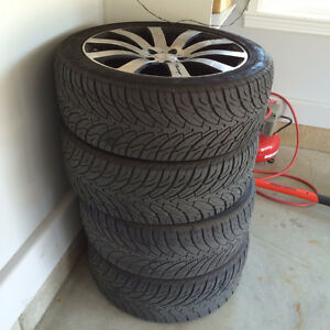 selling R20 pretty new all season 4 tires with allow chrome rims