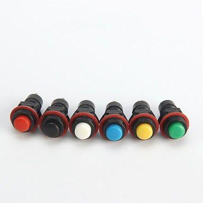 10mm Momentary Self-locking 2-pin Mini Round Push Button Switch Normally Open