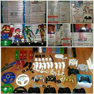 NINTENDO Wii and Wii U ACCESSORIES and GAMES  / JEUX  ACCESSOIRE
