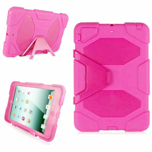 Hybrid kids Shockproof Rubber Case Cover Stand For iPad 234 Air 1 2 mini 1234