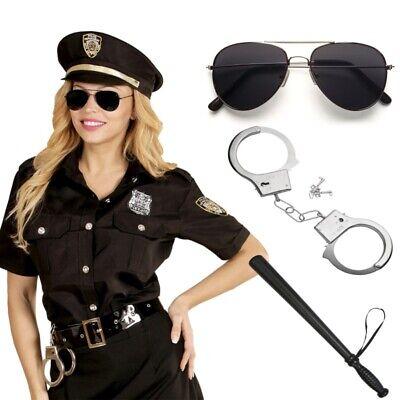 Polizistin Damen Kostüm - Polizei Uniform Bluse mit - Polizei Kostüme Damen