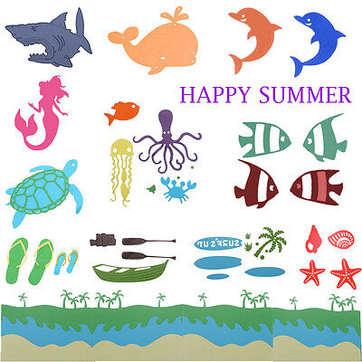 HAPPY SUMMER HOLIDAY Cutting Dies Stencil for DIY Scrapbooking Album Paper Craft](Crafts For Summer)