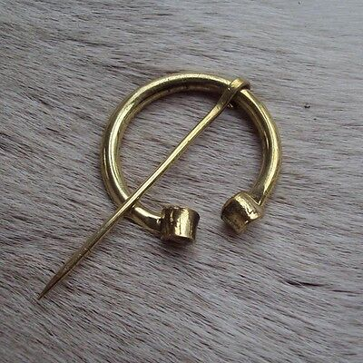 Brass Polished Brooch / Cloak Pin - Re-Enactment Or LARP Use