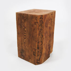 Large Barn Beam Block Side Tables 100+ years old