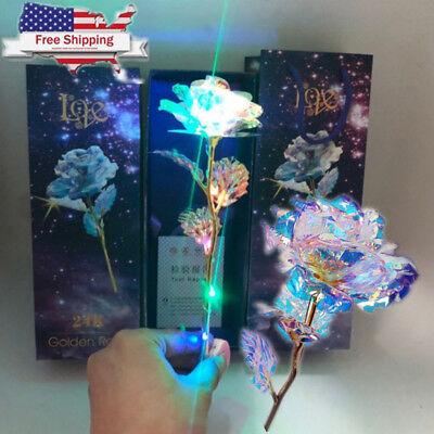 Romantic Forever Love Rose LED 24K Gold Plated Flower Valentine's Day - Led Rose