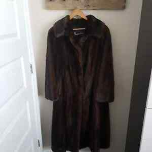 Long mink coat