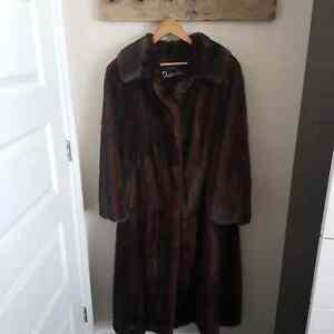Long mink coat