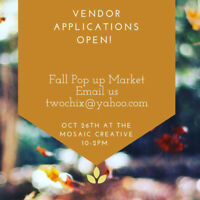 Vendors Wanted! Applications Now Open!