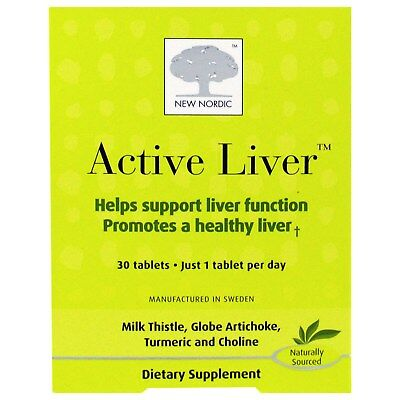 New Nordic Inc Active Liver  30 Tablets