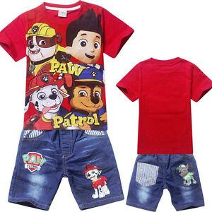 Enfants Pa contrôle Vêtements Filles T-shirts + pantalon